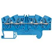 Пружинная клемма Viking 3 - однополюсная - 3 проводника - шаг 6 мм - синий (37244)