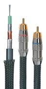 Межблочный аудио кабель с посеребренными жилами и тканевой оплеткой 2RCA - 2RCA DAXX R93-35 (3,5 метра)