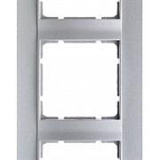Рамка 3-поста вертикальная, Berker B.1 цвет: алюминий, матовый  10131404