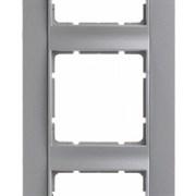 Рамка 5-постов вертикальная, Berker B.1 цвет: алюминий, матовый 10151404