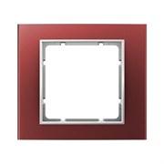 Рамкa 1-пост, Berker B.3, Материал: алюминий цвет: красный/полярная белизна 10113022