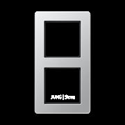 Jung A Flow - Рамка 2-ая, цвет алюминий