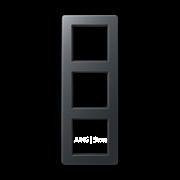 Jung A Flow - Рамка 3-ая, цвет антрацит