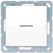 Перекрестный выключатель 1-клавишный, с подсветкой, Белый