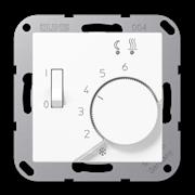 Терморегулятор теплого пола, механический, Белый