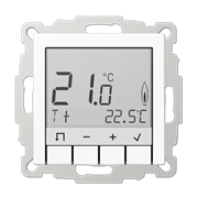 Терморегулятор теплого пола, электронный,  белый