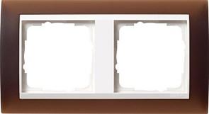Рамка 2-пост для центральных вставок белого цвета, Gira Event Темно-коричневый