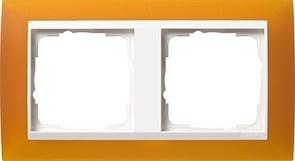 Рамка 2-пост для центральных вставок белого цвета, Gira Event Янтарный