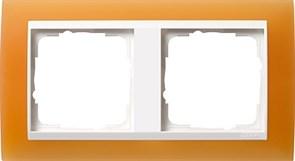 Рамка 2-пост для центральных вставок белого цвета, Gira Event Оранжевый