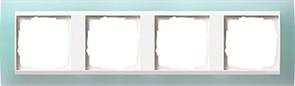 Рамка 4-пост для центральных вставок белого цвета, Gira Event Матовый салатовый
