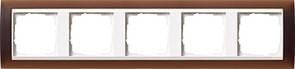 Рамка 5-пост для центральных вставок белого цвета, Gira Event Темно-коричневый