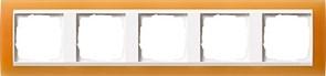 Рамка 5-пост для центральных вставок белого цвета, Gira Event Оранжевый