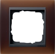 Рамка 1-пост для центральных вставок антацит, Gira Event Темно-коричневый