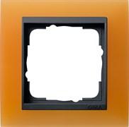 Рамка 1-пост для центральных вставок антацит, Gira Event Оранжевый