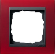 Рамка 1-пост для центральных вставок антацит, Gira Event Красный