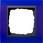 Рамка 1-пост для центральных вставок антацит, Gira Event Синий