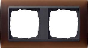 Рамка 2-поста для центральных вставок антацит, Gira Event Темно-коричневый