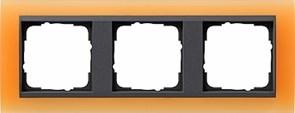 Рамка 3-поста для центральных вставок антацит, Gira Event Оранжевый