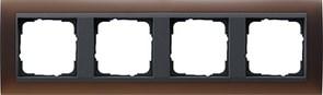 Рамка 4-поста для центральных вставок антацит, Gira Event Темно-коричневый