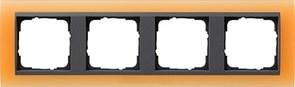 Рамка 4-поста для центральных вставок антацит, Gira Event Оранжевый