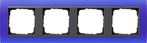 Рамка 4-поста для центральных вставок антацит, Gira Event Синий