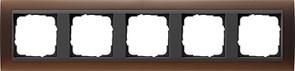 Рамка 5-постов для центральных вставок антацит, Gira Event Темно-коричневый