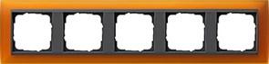 Рамка 5-постов для центральных вставок антацит, Gira Event Янтарный