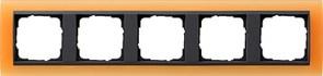 Рамка 5-постов для центральных вставок антацит, Gira Event Оранжевый
