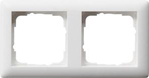 Рамка 2-поста, Gira Standart 55 Белый Матовый