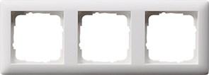 Рамка 3-поста, Gira Standart 55 Белый Матовый