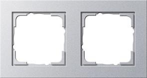 Обладающая повышенной прочностью Рамка двухместная Gira E2 Алюминий