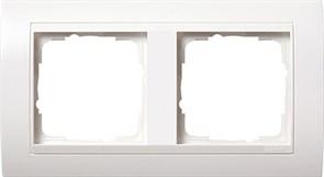 Рамка 2-поста для центральных вставок белого цвета, Gira Event Белый