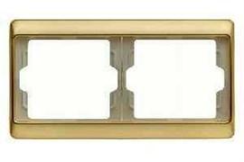 Рамка двойная Arsys, для горизонтального монтажа, золотой матовый 13640002
