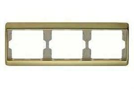 Рамка тройная Arsys, для горизонтального монтажа, золотой матовый 13740002