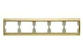 Рамка пятерная Arsys, для горизонтального монтажа, золотой матовый 13940002