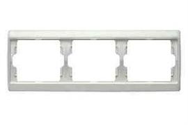 Рамка тройная Arsys, для горизонтального монтажа, белый глянцевый 13730069