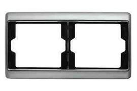 Рамка двойная Arsys, для горизонтального монтажа, нержавеющая сталь 13640004
