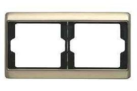 Рамка двойная Arsys, для горизонтального монтажа, бронза 13640001