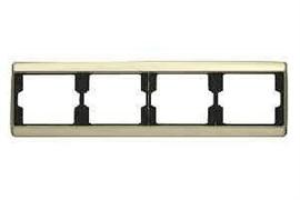 Рамка четверная Arsys, для горизонтального монтажа, бронза 13840001