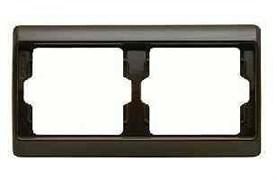 Рамка двойная Arsys, для горизонтального монтажа, коричневый глянцевый 13630001