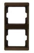 Рамка двойная Arsys, для вертикального монтажа, коричневый глянцевый 13230001