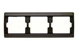 Рамка тройная Arsys, для горизонтального монтажа, коричневый глянцевый 13730001
