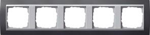 """Рамка 5-постов для центральных вставок """"алюминий"""", Gira Event Антрацит"""