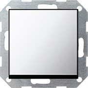 Клавишный выключатель с самовозвратом 10 А / 250 В~ в сборе Gira System 55 Хром 0126605