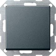 Клавишный выключатель с самовозвратом проходной 10 А / 250 В~ в сборе Gira System 55 Антрацит 012728