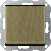 Клавишный выключатель с самовозвратом проходной 10 А / 250 В~ в сборе Gira System 55 Бронза 0127603
