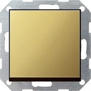 Клавишный выключатель с самовозвратом проходной 10 А / 250 В~ в сборе Gira System 55 Латунь 0127604