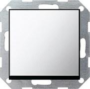 Клавишный выключатель с самовозвратом проходной 10 А / 250 В~ в сборе Gira System 55 Хром 0127605
