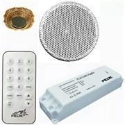 FD51000 Встраиваемое радио Fede для установки в точечные светильники с пультом ДУ, динамик Белый