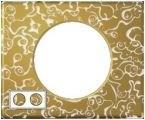 Рамка двухместная Legrand Celiane Фарфор-золотая феерия